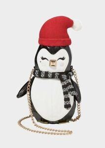 $88  Betsey Johnson x Kitsch Cozy Penguin Crossbody Bag A7