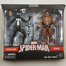Marvel Legends ~ Black Suit SPIDER-MAN vs. KRAVEN EXCLUSIVE FIGURE SET ~ Hasbro