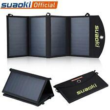 Suaoki 25W Solar Panels Portable Folding Foldable Waterproof Dual 5V/2.1A USB