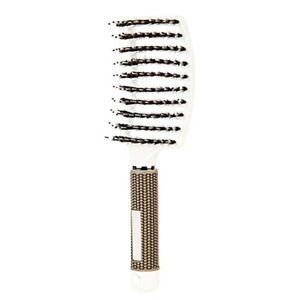 Women Hair Scalp Massage Comb Bristle Nylon Hairbrush Wet Curly Detangle Brush