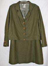 Via Covdotti Womens Suit Jacket Size 14 Skirt Size 16 Green