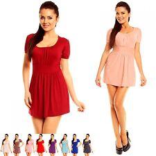 Zeta Ville - Women's Stretchy Jersey Tunic Top Short Sleeve Size UK 10-18 - 408z
