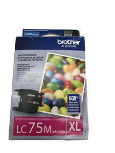 Brother LC 75 Magenta Ink Cartridge High Yield (LC75MXL) 08/2017 Expiration