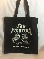 Foo Fighters 2018 Canvas Tour Tote Bag. Brand New