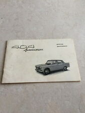 PEUGEOT 404 AUTOMATIQUE DRIVING PARTICULARS OWNERS MANUAL OEM  BOOK