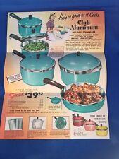 Club Aluminum Holiday Cookware Pamphlet Sales Brochure Vintage