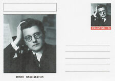 CINDERELLA - 4568 - Dmitri SHOSTAKOVICH on Fantasy Postal Stationery card