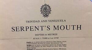 ADMIRALTY  SEA  CHART. # 481. SERPENT'S MOUTH. TRINIDAD & VENEZUELA. 1984
