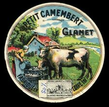 Vintage French Cheese Label: Original Petit Camembert Le Glanet - Loire