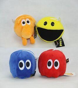 """8"""" Pixel war Pac-Man Game Plush Toys q-bert Ghost gift"""
