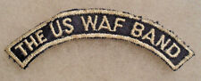 WWII ERA TWILL VAR OF THE US WAF BAND TAB EMB ON RIBBED TWILL NO GLOW CTN GZE BK