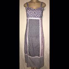 Blue Sky Bohemian Maxi Cotton Patchwork Straight Dress Lavender Boho Hippie S