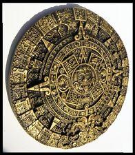 AZTEC,CALENDAR,DECORATIVE,HANDMADE Dark Gold