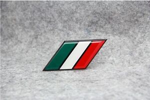 For Fiat Ferrari VW BMW IT Italy National Flag Metal Badge Decal Emblem Sticker