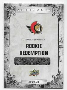 20/21 UD ARTIFACTS ROOKIE REDEMPTIONS RC Hockey (#181-220) U-Pick From List
