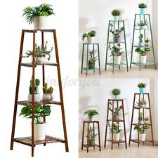 2/3/4Tier Wooden Plant Flower Pot Display Stand Shelf Storage Rack Indoor Garden