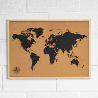 Cork and Notice Boards Map Pins 50 Large 8mm Head For Indicator