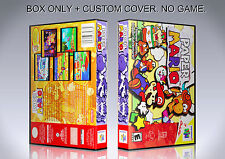 PAPER MARIO. NTSC VERSION. Box/Case. Nintendo 64. BOX + COVER. (NO GAME).