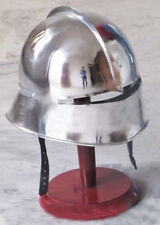 18GA SCA LARP Medieval Knight German Sallet Fighting Combat Armor Helmet MS