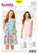 Burda Style Schnittmuster - Kleid , Hängerkleid und Top – Nr. 6532