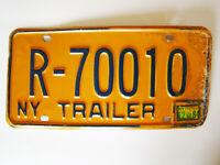 New York License Plate NY Trailer R-70010 w/ 12-84 Reg Sticker