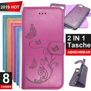 Handy Tasche Etui Schutz Flip Cover Case Klapphülle Schale Motiv für iPhone X XS
