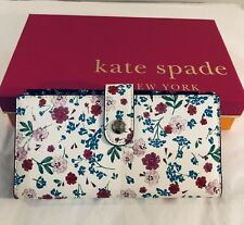 Kate Spade Women Purse Stacy Garden Street Greenhouse Cream Multi With Box