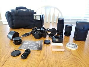 Canon A-1 Film Camera with accessories - Untested
