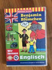 Benjamin Blümchen CD-Rom wir lernen Englisch Vorschulkinder Computerspiel, OVP