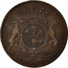 [#59106] France, Royal, Token, 1708, Ef(40-45), Copper, Feuardent #5751, 9.34