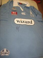Brad Fittler (Roosters) signed NSW State of Origin legends jersey + COA / proof