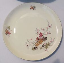 12 CHINA PORZELLANFABRIK ARZBERG Autumn Leaves Gold Rim Dinner Plates Germany