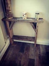 Reclaimed Solid Wood Console Table Rustic Hallway Side Table Shoe Rack
