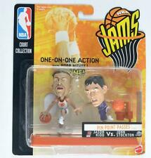 MATTEL 1998 NBA JAMS PIN POINT PASSES JASON KIDD VS JOHN STOCKTON FIGURE MOC