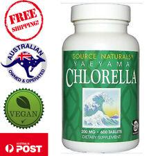 Source Naturals Yaeyama Chlorella 200 mg 600 Tablets 100% freshwater chlorella