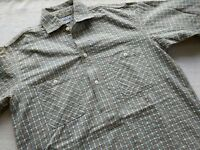 SUGAR CANE union made TOYO work clothing seer sucker pullover plaid half shirt L