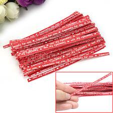 100pcs Nouveau Attaches en Papier Kraft Rouge pour Sac Sachet de Bonbon Chocolat