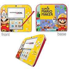 Super Mario Maker Vinyl Skin Sticker for Nintendo 2DS