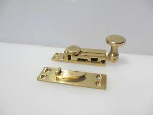 Vintage Brass Sash Window Latch Lock Catche Fastener Old