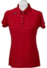 New Ladies Golf Shirt Golf Polo by Crest Link | Micro Dry | Red | Size Large