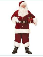 Super Deluxe Santa Suit Costume Jacket Pants Hat Boot Covers XL (Missing Gloves)