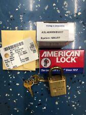 Nib American Lock Brass 10 Lock Padlock Set Military Use Asl40nmk