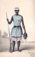 DAHOMEY Amazon Female Warrior Afrique SEH Dong Hong Beh leader 7x4 pouces Imprimer