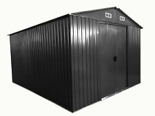 Gartenhaus Geräteschuppen 13m² 3x4,5m aus verzinktem Stahlblech Metall grau (839