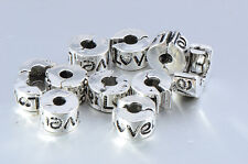 European Silver Plated 10pcs stopper beads charm it hole diameter 4mm Lot