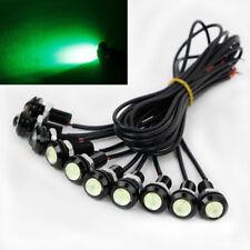 10 X 9W 18mm 12V 24V Green LED Eagle Eye Light Car Fog DRL Daytime Reverse Back