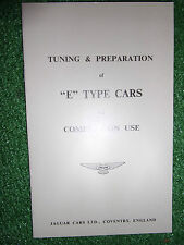 Jaguar E-Type Tuning & Preparation booklet handbook manual For Competition Use