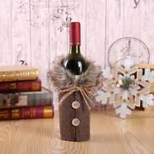 Merry Christmas Santa Wine Bottle Bag Cover Xmas Festival Party Table Decor Gift