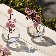 Clear Glass Ball Vase Transparent Bottle DIY Table Flowers Wedding Home Decor
