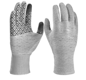 Nike Gloves Womens Large Authentic Dry Sphere 2.0 Run Reflective Running Grey